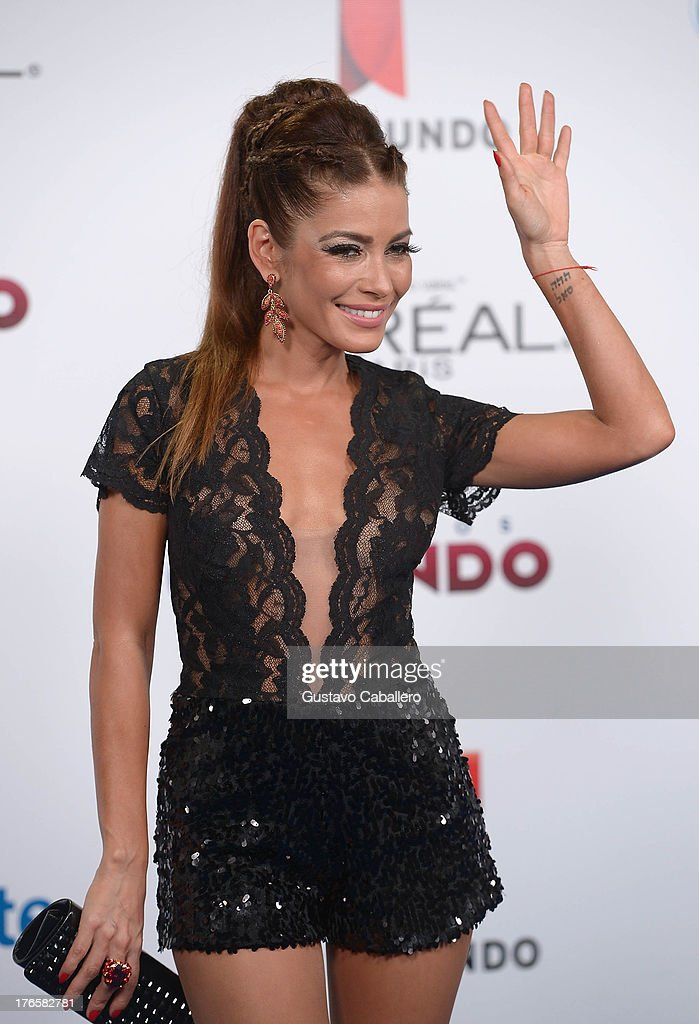 Adriana Fonseca arrives for Telemundo's Premios Tu Mundo Awards at American Airlines Arena on August 15, 2013 in Miami, Florida.