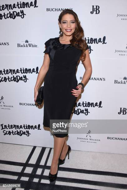 Adriana Fonseca attends at red carpet of International Scotch Day at Scotch Bar on February 10 2017 in Mexico City Mexico