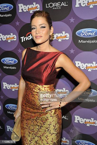 Adriana Fonseca attends People En Espanol Celebrating The '2008 Stars of the Year' Issue at Grass Lounge on December 10 2008 in Miami Florida