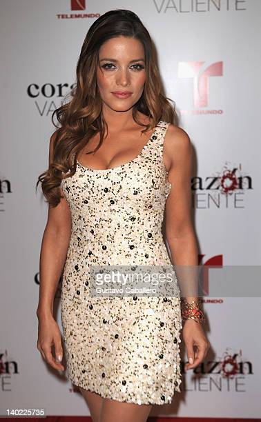 Adriana Fonseca attends Telemundo's Corazon Valiente Red Carpet Premiere at Fontainebleau Miami Beach on February 29 2012 in Miami Beach Florida