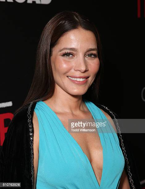 Adriana Fonseca attends the premiere Of Open Road's 'Triple 9' at Regal Cinemas LA Live on February 16 2016 in Los Angeles California
