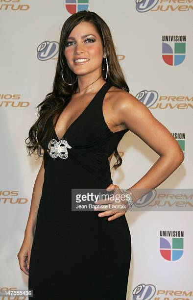 Adriana Fonseca during Univision's Premios Juventud Awards Press Room at University of Miami BankUnited Center in Miami Florida United States