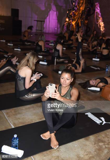 Adriana Gallarzo attends PUMA Hosts CAMP PUMA To Launch Their Newest Women's Collection Velvet Rope at Goya Studios on August 3 2017 in Los Angeles...