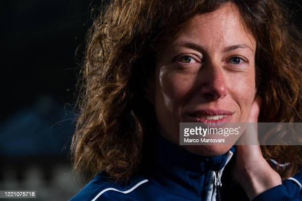 Adriana Gardini trains in isolation on April 25, 2020 in Cortina d'Ampezzo, Italy. The coronavirus and the disease it causes, COVID-19, are having a...