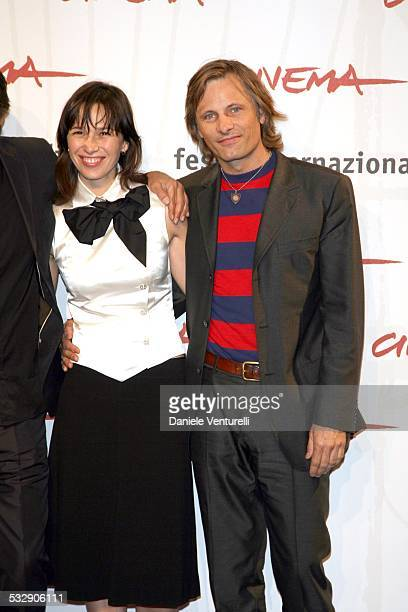 Adriana Gil and Viggo Mortensen during 1st Annual Rome Film Festival 'Alatriste' Photocall at Auditorium Parco della Musica in Rome Italy