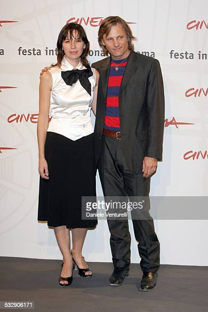 Adriana Gil and Viggo Mortensen during 1st Annual Rome Film Festival Alatriste Photocall at Auditorium Parco della Musica in Rome Italy