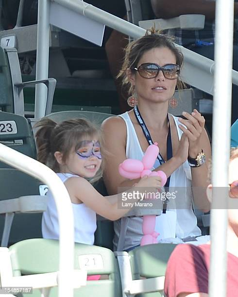Adriana Henao and and her daughter Mikaella Castroneves attend the 23rd Annual Chris Evert/Raymond James ProCelebrity Tennis Classic at Delray Beach...