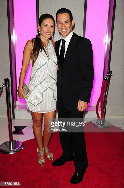 Adriana Henao and Helio Castroneves attend The Blacks' Annual Gala 2013 at Fontainebleau Miami Beach on April 13 2013 in Miami Beach Florida