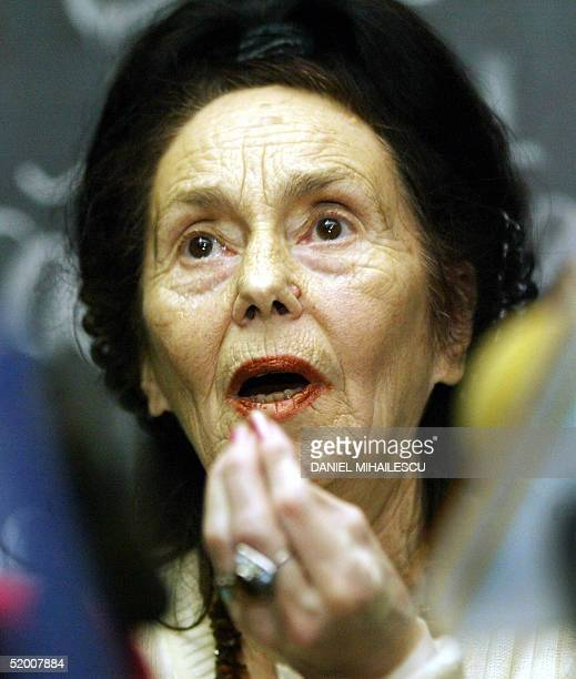 Adriana Iliescu addresses to the media at a press conference at the Giulesti Maternity Hospital in Bucharest Romania 18 January 2005 Doctors said the...