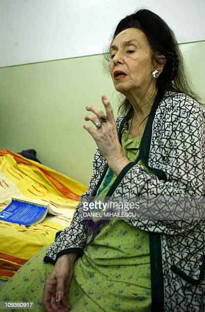 Adriana Iliescu answers media at the intensive care department at the Giulesti Maternity Hospital in Bucharest 20 January 2005 A 67yearold Romanian...