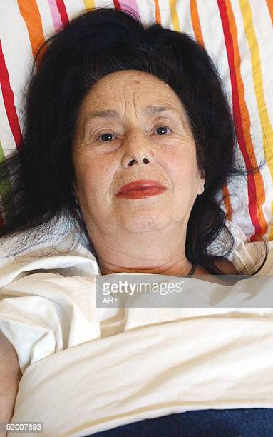 Adriana Iliescu the 66yearold Romanian who gave birth to a baby girl Eliza Maria on Sunday is seen in an intensive care unit at the Giulesti...