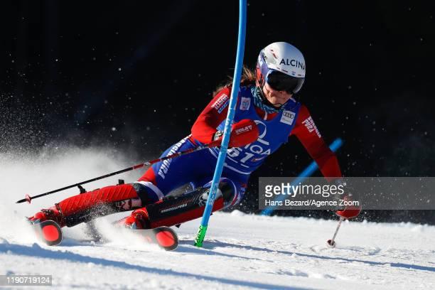 Adriana Jelinkova of Netherlands competes during the Audi FIS Alpine Ski World Cup Women's Slalom on December 29, 2019 in Lienz Austria.