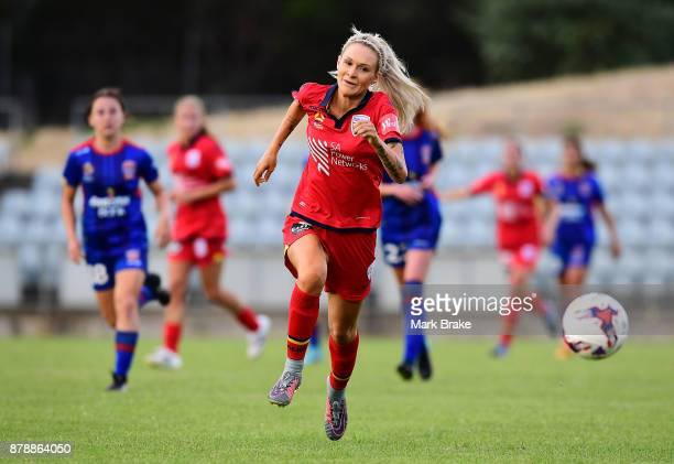 Adriana Jones of Adelaide United during the round five WLeague match between Adelaide United and Newcastle Jets at Marden Sports Complex on November...