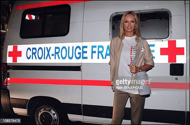 Adriana Karembeu, ambassador of the French Red Cross in Paris, France on November 06, 2001.