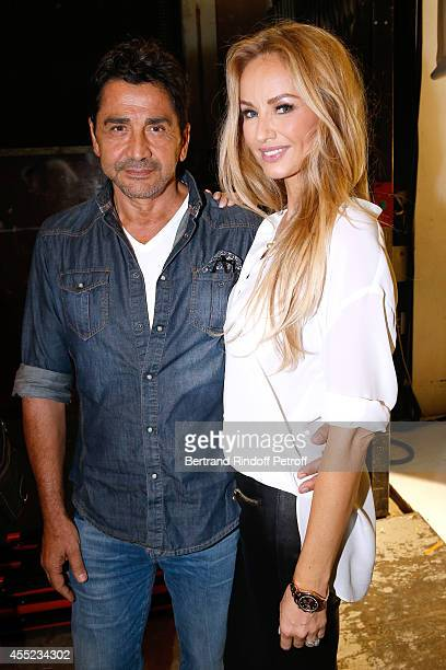 Adriana Karembeu and her husband Aram Ohanian attend the 'Vivement Dimanche' French TV Show at Pavillon Gabriel on September 10 2014 in Paris France