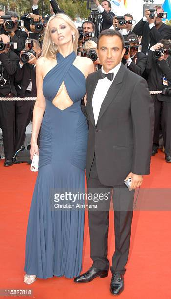 Adriana Karembeu and Nikos Aliagas during 2005 Cannes Film Festival 'Where the Truth Lies' Premiere at Palais des Festival in Cannes France