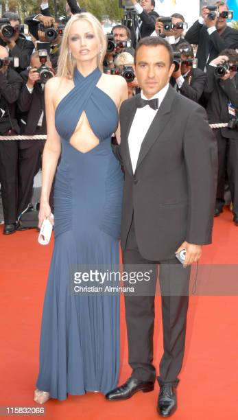 Adriana Karembeu and Nikos Aliagas during 2005 Cannes Film Festival Where the Truth Lies Premiere at Palais des Festival in Cannes France