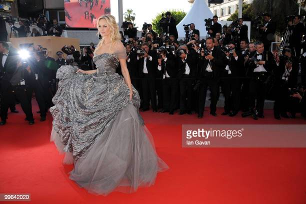 Adriana Karembeu attends 'Biutiful' Premiere at the Palais des Festivals during the 63rd Annual Cannes Film Festival on May 17 2010 in Cannes France