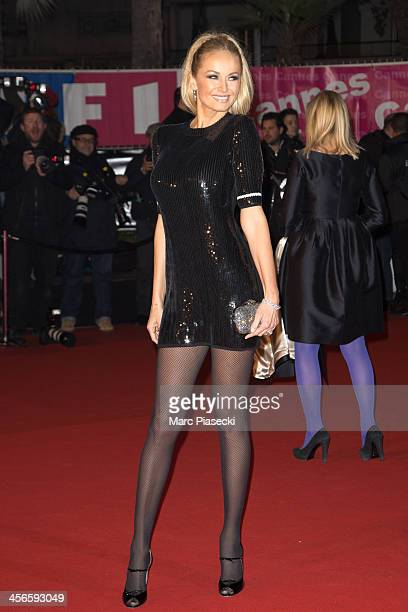 Adriana Karembeu attends the 15th NRJ Music Awards at Palais des Festivals on December 14 2013 in Cannes France