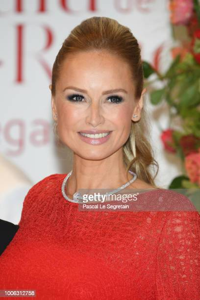 Adriana Karembeu attends the 70th Monaco Red Cross Ball Gala on July 27 2018 in MonteCarlo Monaco