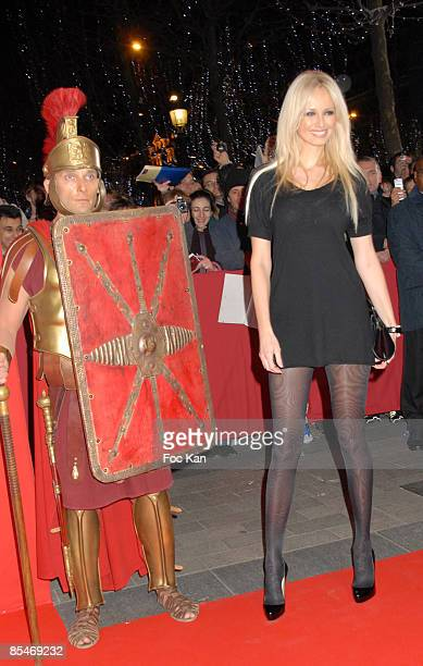 Adriana Karembeu attends the Asterix At The Olympic Games Paris Premiere at The Gaumont Marignan on January 132008 in Paris France