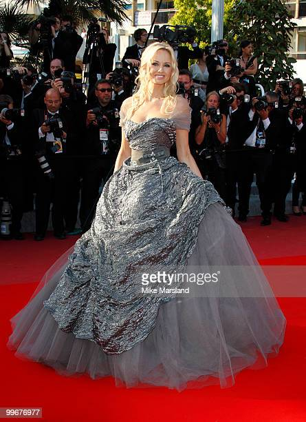 Adriana Karembeu attends the Biutiful Premiere at the Palais des Festivals during the 63rd International Cannes Film Festival on May 17 2010 in...