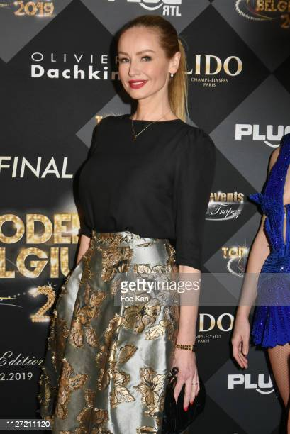 Adriana Karembeu attends the Top Model Belgium 2019 Ceremony at Le Lido on February 03 2019 in Paris France
