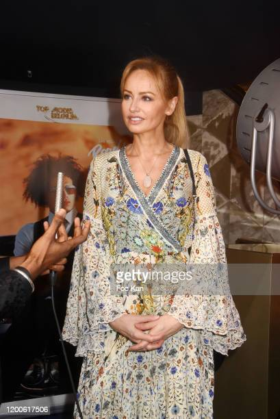 Adriana Karembeu attends the Top Model Belgium 2020 Ceremony At Le Lido on January 19 2020 in Paris France