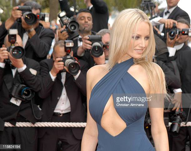Adriana Karembeu during 2005 Cannes Film Festival 'Where the Truth Lies' Premiere at Palais des Festival in Cannes France
