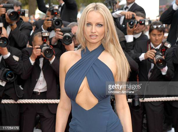 Adriana Karembeu during 2005 Cannes Film Festival Where the Truth Lies Premiere at Palais des Festival in Cannes France