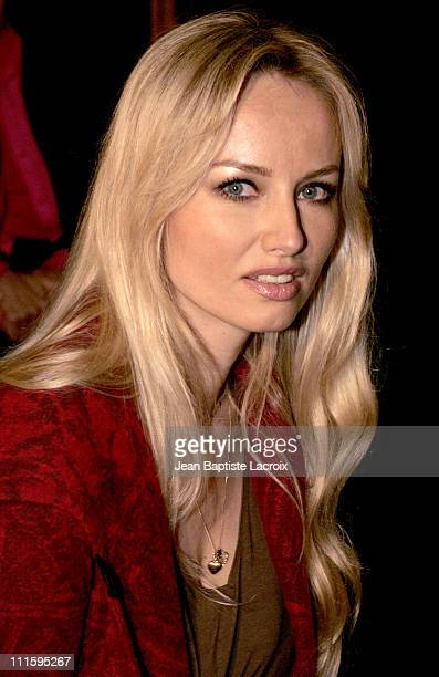 Adriana Karembeu during Paris Fashion Week Ready to Wear Spring / Summer 2005 Guy Laroche Front Row at Carrousel du Louvre in Paris France