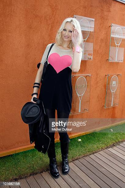 Adriana Karembeu in the Rolland Garros Village at The French Open on June 6 2010 in Paris France