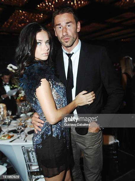 Adriana Lima and her husband NBA star Marko Jaric attend the Brazil Foundation Gala at W South Beach on March 27 2012 in Miami Beach Florida