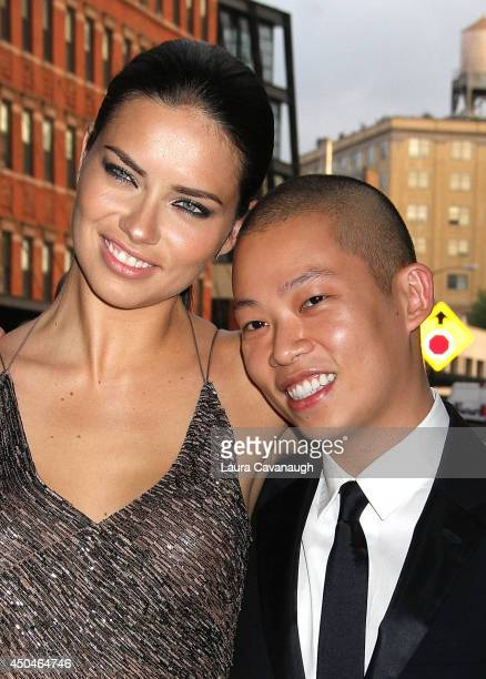 Adriana Lima and Jason Wu attend the 2014 Young Friends Of ACRIA Summer Soiree at Highline Stages on June 11 2014 in New York City