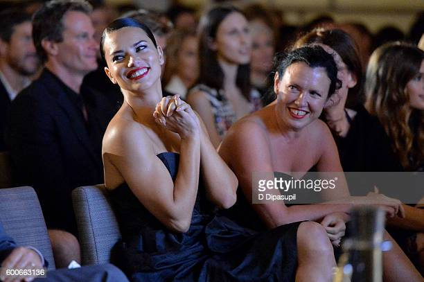 Adriana Lima and Katie Grand attend the The Daily Front Row's 4th Annual Fashion Media Awards at Park Hyatt New York on September 8 2016 in New York...