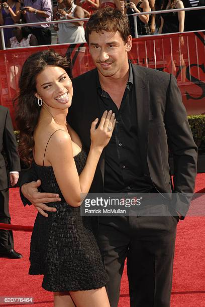 Adriana Lima and Marco Jaric attend The 2008 ESPY Awards Arrivals at Shrine Auditorium on July 16 2008 in Los Angeles CA