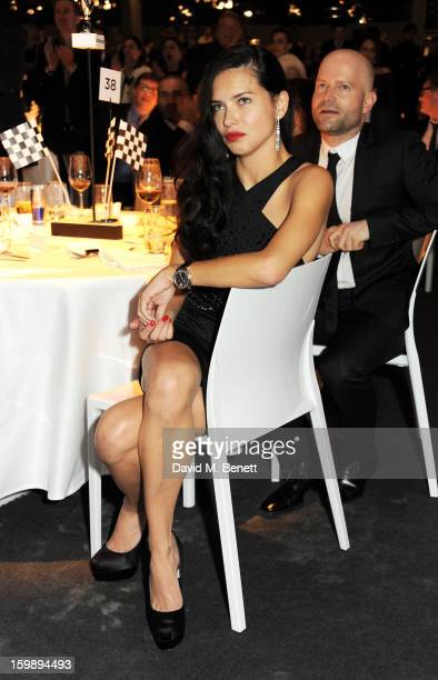 Adriana Lima and Mark Forster attend the IWC Schaffhausen Race Night event during the Salon International de la Haute Horlogerie 2013 at Palexpo on...