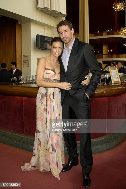 Adriana Lima and Marko Jaric attend AMERICAN BALLET THEATRE Celebrates Noche Latina at Metropolitan Opera House on June 10 2008 in New York City