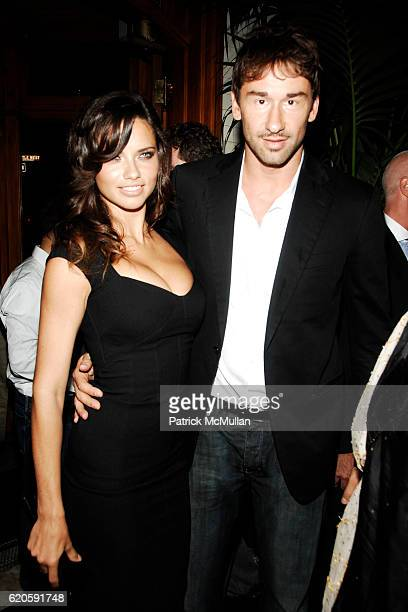 Adriana Lima and Marko Jaric attend Private Dinner hosted by CARLOS JEREISSATI CEO of IGUATEMI at Pastis on September 6 2008 in New York City