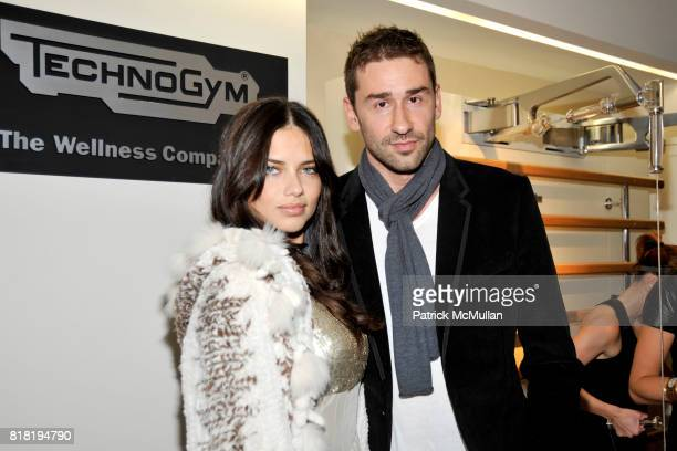 Adriana Lima and Marko Jaric attend Technogym US Showroom Launch Event at 70 Greene St on November 16 2010 in New York City