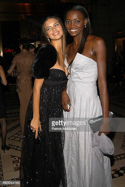 Adriana Lima and Olveh attend New Yorkers for Children 10th Anniversary Fall Gala at Cipriani 42nd Street on September 21 2005 in New York City