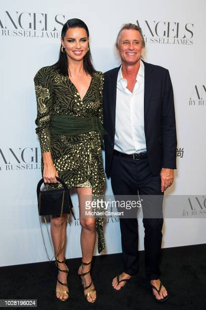 Adriana Lima and Russell James attend the Russell James 'Angels' book launch exhibit at Stephan Weiss Studio on September 6 2018 in New York City