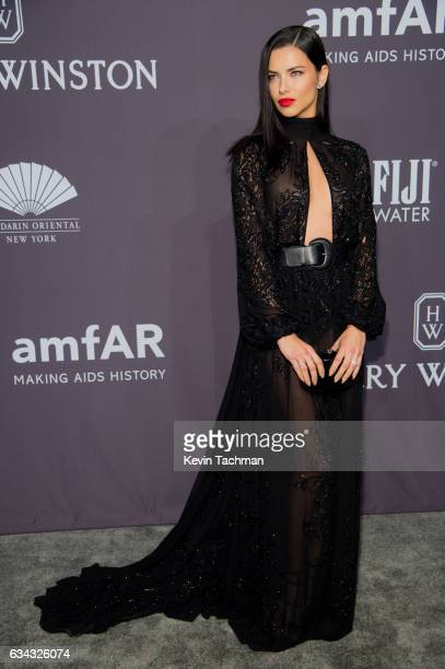Adriana Lima arrives at the 19th Annual amfAR New York Gala at Cipriani Wall Street on February 8 2017 in New York City