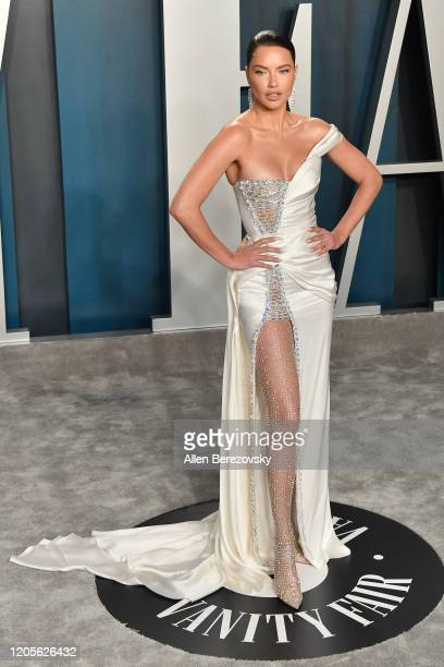 Adriana Lima arrives at the 2020 Vanity Fair Oscar Party hosted by Radhika Jones at Wallis Annenberg Center for the Performing Arts on February 09...