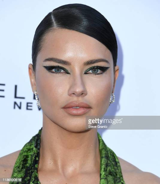 Adriana Lima arrives at The Daily Front Row's 5th Annual Fashion Los Angeles Awards at Beverly Hills Hotel on March 17 2019 in Beverly Hills...