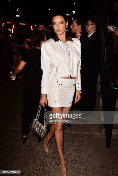 Adriana Lima arrives to the Tom Ford fashion show at Park Avenue Armory on September 5 2018 in New York City