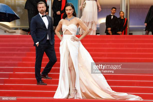 Adriana Lima at the 'Burning' premiere during the 71st Cannes Film Festival at the Palais des Festivals on May 16 2018 in Cannes France