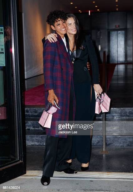 Adriana Lima at Victoria's Secret Viewing Party at Spring Studios on November 28 2017 in New York City