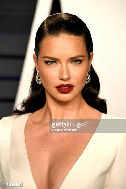 Adriana Lima attends 2019 Vanity Fair Oscar Party Hosted By Radhika Jones at Wallis Annenberg Center for the Performing Arts on February 24 2019 in...