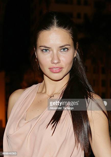 Adriana Lima attends a party hosted by Zeelander Yachts welcoming the Zeelander Z68 during the Miami International Boat Show on February 15 2014 in...